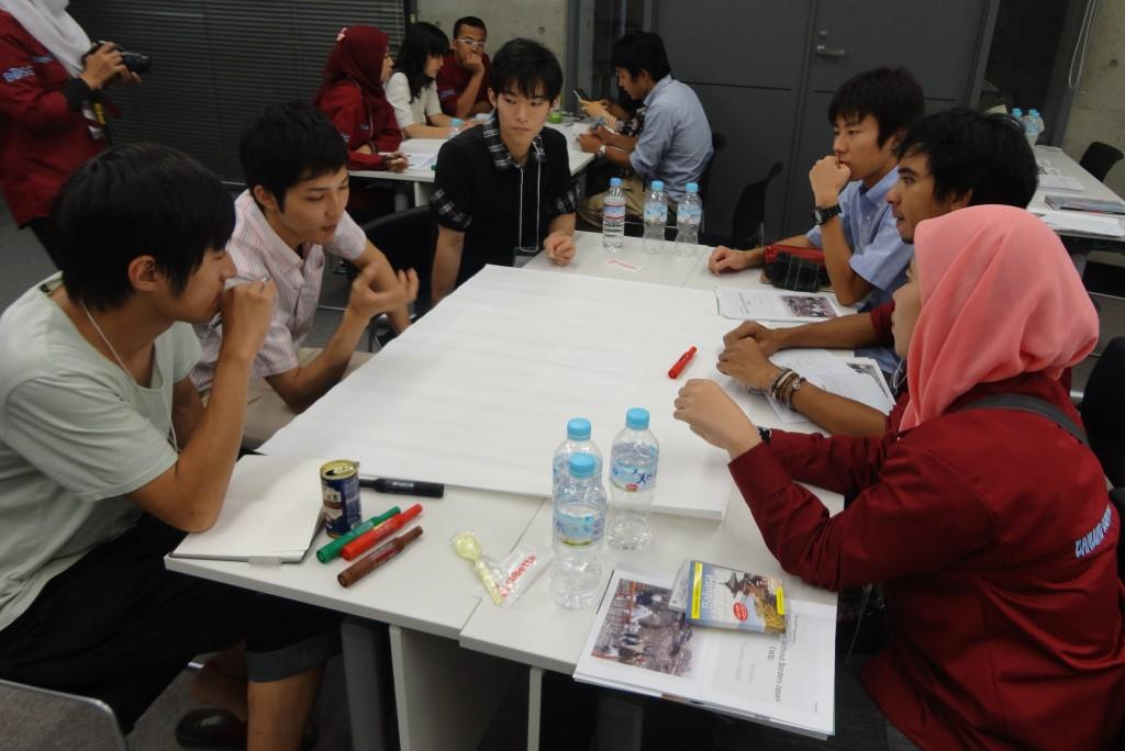 インドネシアの学生とワークショップ